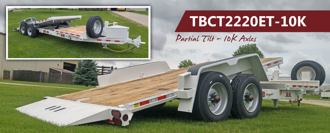 Partial tilt trailer with 10K axles