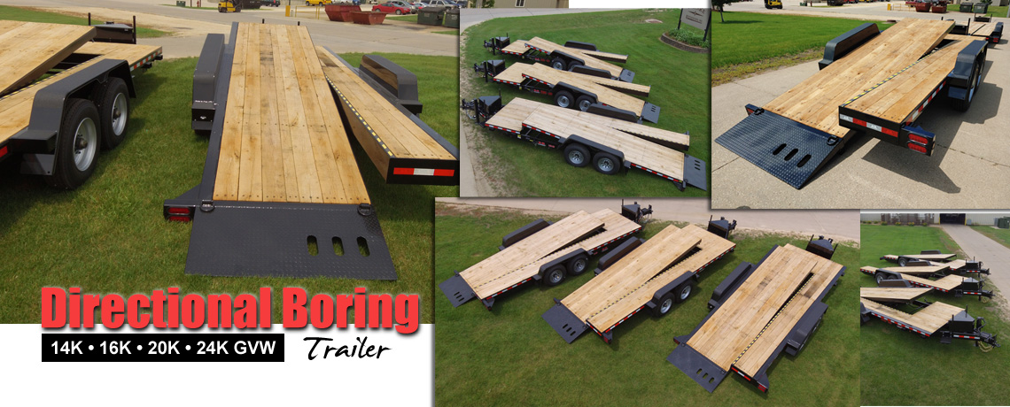 Directional boring trailer